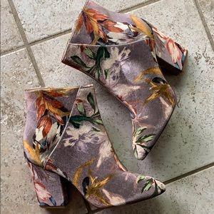 Nine west floral ankle boots
